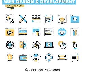 Web design and development icons