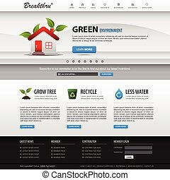A web design layout which is suitable for corporate and business.