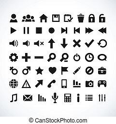 Set of Web Icon. Vector illustration.