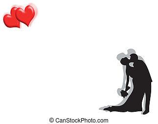 Wedding and hearts