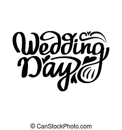 wedding day hand lettering