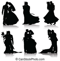 bridal, wear, love, marriage, married, matrimony, wedding, graphic, flower, ceremony, background, black, bouquet, bride, clip, collection, couple, dating, dress, embracing, evening, flirting, gown, groom, group, husband, illustration, isolated, kissing, kiss, men, newlywed, people, romance, set, ...