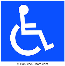 white handicap or wheelchair accessible symbol on white background