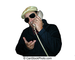 White hat glasses and phone