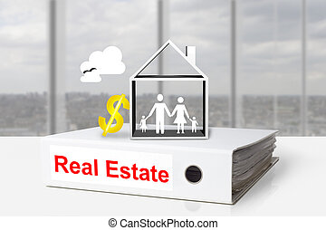 office binder real estate family home dollar symbol
