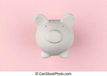 White piggy moneybox