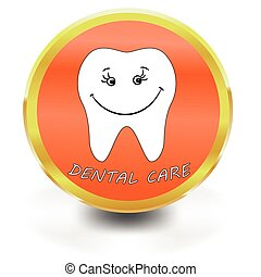White Tooth Icon, dental care,