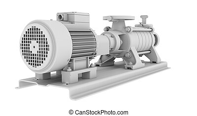 Water pump. Isolated render on the white background