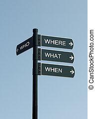 who where when where sign