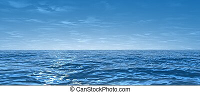 3d rendered illustration of the blue sea