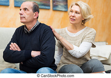 Wife asking husband for forgiveness