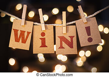 Win Concept Clipped Cards and Lights