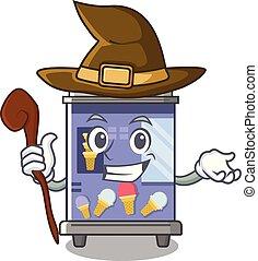 Witch ice cream vending machine mascot shape