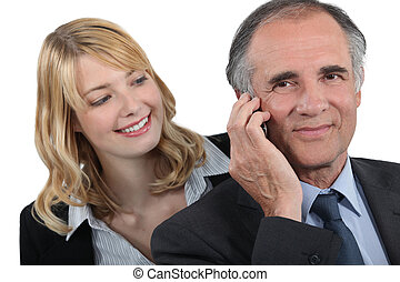 Woman admiring her boss