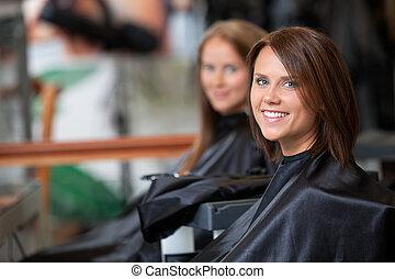 Woman At Parlor