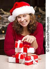 woman during Christmas