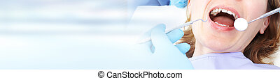 Woman in dental care clinic