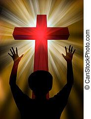 Woman praising god