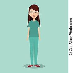 woman professional doctor avatar