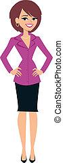 Woman Standing Illustration