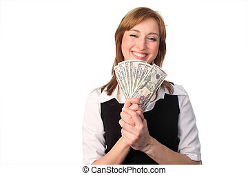 woman with Dollars