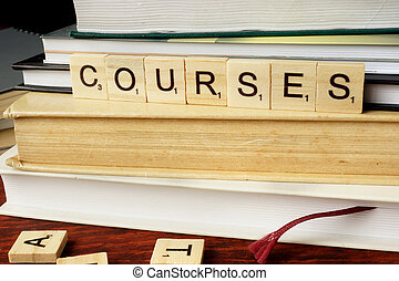 Word Courses from wooden blocks