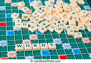 Words board game