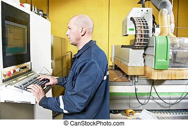worker at furniture manufacture workshop