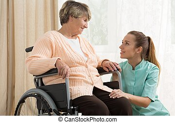 Working in care home