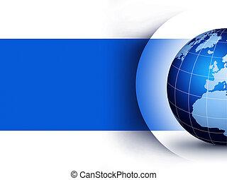 Blue world globe design concept... World globe design illustration.