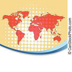 World map background eps10