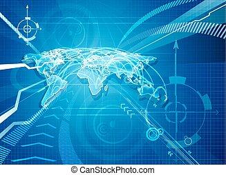 World Map Globalisation Background