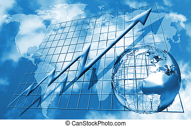 Conceptual image depicting world trading