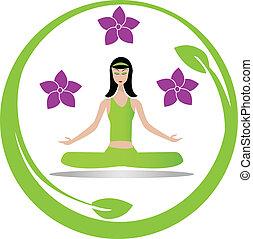 Yoga meditation girl