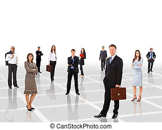 Young attractive business people -