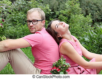 Young Couple On Picnic