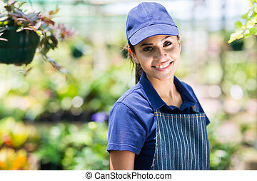 young nursery business owner