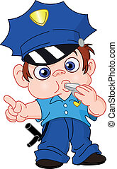 Young policeman