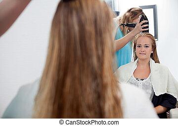 Young Woman At Parlor