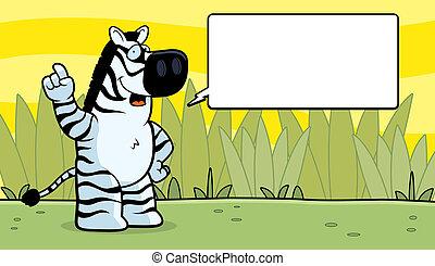 Zebra Talking
