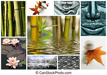 Zen like picture collage