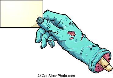 Zombie hand card