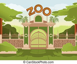 Zoo gate